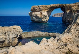 Dwejra bay with former Azure window