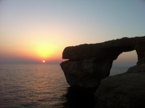 Dwejra Bay Azure Window @ sunset